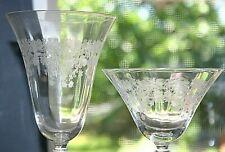 (Set of 20) Vintage mid 1950s Finely Etched Crystal stemware wine glasses 3 size