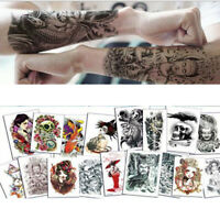 Waterproof Temporary Tattoo Sticker Full Arm Body Art Fake Tattoo Stickers-3D