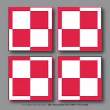 4 x POLAND Polish Air Force Aircraft Roundels Vinyl Stickers Decals 50mm - 2686
