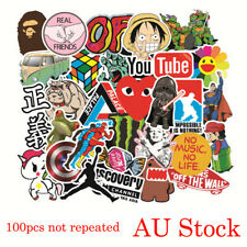 100 Random Waterproof  Vinyl Decal Graffiti Stickers Car Bomb Laptop Phone Skate