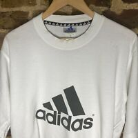Vintage 90s ADIDAS Big Logo T Shirt Tee White Large spell out