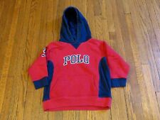 Boys' Polo Ralph Lauren Spell Out Red Navy Blue Pullover Hoodie Toddler sz 4/4T