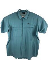 Grundens Turquoise 3XL Vented Fishing Shirt