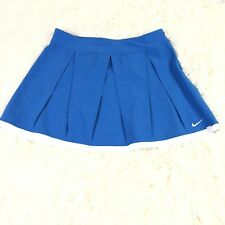 Nike Women XSmall Tennis Skirt Blue  Platted Stretch Activewear Fit Dry