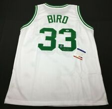 Larry Bird Signed Boston Celtics Basketball Jersey *HOF PSA Z83645