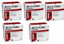 5 X ACCU CHEK PER-FORMA NANO KIT /500 STRIPS FOR CHECK BLOOD SUGAR/QUICK & EASY
