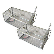 ALL NEW Metal Animal Live Capture Mouse Trap Cage Box Alive Mole Rodent Catcher