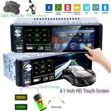 "4.1 ""1 Din Autoradio Stereo Bluetooth FM AM RDS  USB AUX Touch MP5 SD+ Microfono"
