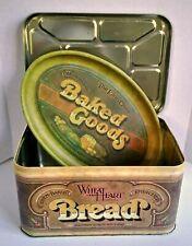 Retro Lovin' Oven Baked Goods Tray AND Wheat Heart Brand Bread Box Tin Artisanal