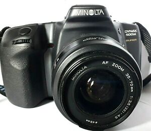 CAMERA > MINOLTA DYNAX 500si Super + 35-70mm ZOOM LENS & strap - Lithium Battery