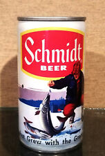 Schmidt Ice Fisherman Pull Tab Beer Can Bottom Open Heileman Lacrosse 5 city
