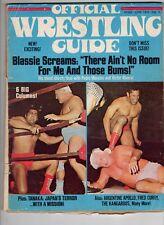 Wrestling Guide Magazine  June 1972 Pedro Morales Victor Rivera