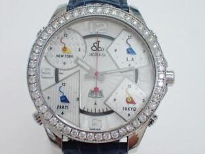 Jacob & Co. Watch Five Time Zone 47mm After Diamond Bezel Men's Quartz