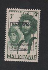 Poste aérienne militaire bâtiment Richelieu N° 5 Mauritanie gomme sans charnière