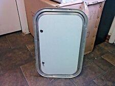 "22"" x 14"" RV Trailer Baggage Cargo Compartment Textured White Access Door 22x14"