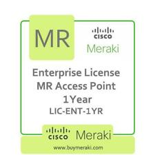 Meraki MR Series Enterprise Edition Licence, 1-Year, 1 Access Point LIC-ENT-1YR