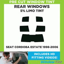 Pre Cut Window Tint - SEAT Cordoba Estate 1998-2006 - 5% Limo Rear