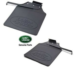 GENUINE Land Rover Defender 110 LEFT & RIGHT REAR MUD FLAPS (PLEASE SEND REG)