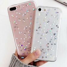 1X Silicone Slim Soft TPU Bling Glitter Case Cover For Apple iPhone 7 Plus