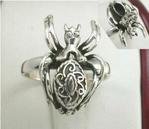 UNIQUE .925 STERLING SILVER SPIDER POISON RING size 10 style# r1242
