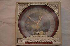 "Thomas Kinkade ""Home For The Holidays� Christmas Carol Clock"