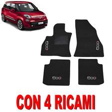 TAPPETINI PER AUTO SU MISURA PER FIAT 500L IN MOQUETTE E GOMMA CON 4 RICAMI