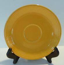 "Vintage Homer Laughlin Genuine FIESTA Yellow Glaze Saucer, Cup Plate, 6 1/8"""