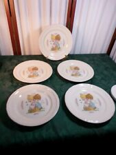 5-1994 Adorable Enesco Precious Moments Love One Another Dinner Plates