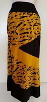 TS TAKING SHAPE Mustard Yellow/Black Stretch Knit Skirt Size S