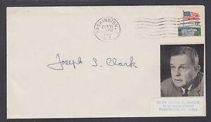 Joseph S. Clark, US Senator from Pennsylvania, signed 1968 Cover