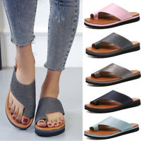 Womens Glitter Beach Sandals Comfy Platform Soft Footed Shoes Bunion Corrector