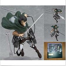 """6"""" Anime Attack On Titan Levi PVC Action Figure Figma #213 New In Box H"""