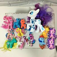"Hasbro My Little Pony Lot Of 16 Mixed Lot  7"" Glamour Glow Light Up (O)"