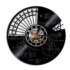 Math Formula Vinyl Record Clock Geek Graphic Equation Wall Clock Teacher Gift