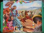 1940's BEAUTIFUL SENORITA CORONA BEER ADVERTISING CATAÑO MEXICAN CALENDAR POSTER