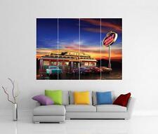 American Diner Retro Chevy Riesiges Wandkunst Foto Bild Aufdruck Poster