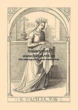 La santa Cäcilia chiese musica organisti musicisti St. legno chiave Sankt a4 1085