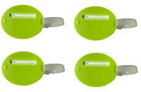 Quatre Paquet De Vert Vif Étiquettes pour Bagages Avec Caché Adresse