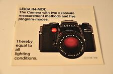 Leica R4-Mot, Sales Book, c1980, Original Not A Copy!
