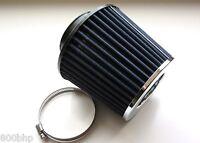 "Performance High Flow Cone Air Filter 114mm 4.5"" Inch Neck Diameter BLUE/CHROME"