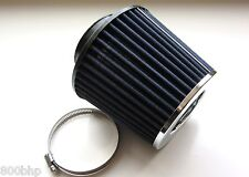 "Performance High Flow Cone Air Filter (63mm) 2.5"" Inch Neck Diameter BLUE/CHROME"