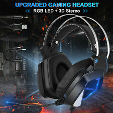 3.5mm Gaming Headset Wired Stereo LED Mic Laptop Headphone For PC PS4 Xbox One