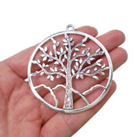 5 x Tibetan Silver Large Tree Life Round Charms Pendants for Jewellery Making