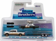 Greenlight 1/64 The Blues Brothers Hitch & Tow Set Bluesmobile, Truck, Trailer