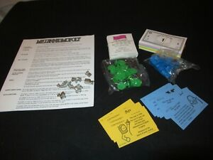 Millenniumopoly Board Game Pieces Parts Tokens Cards Money UNUSED MINT