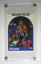 Reggie Miller 1989 NBA Hoops Hand Signed Autograph Signature Basketball Card