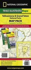 NATIONAL GEOGRAPHIC TRAILS ILLUSTRATED TOPOGRAPHIC MAPS YELLOWSTONE & GRAND TETO