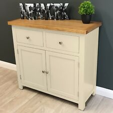 Cotswold Cream Painted Oak Sideboard Small / Dresser / Solid Wood Cupboard / New