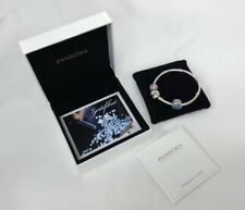 Pandora Charm Bracelet Silver Complete With 2 Charms Comes In Original Box #110