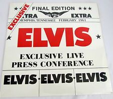 "ELVIS PRESLEY Exclusive Live Press Conference Album LP Vinyl Record 12"" SEALED"